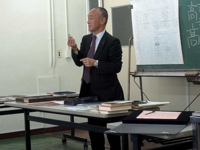 講義中の田中宏明社長