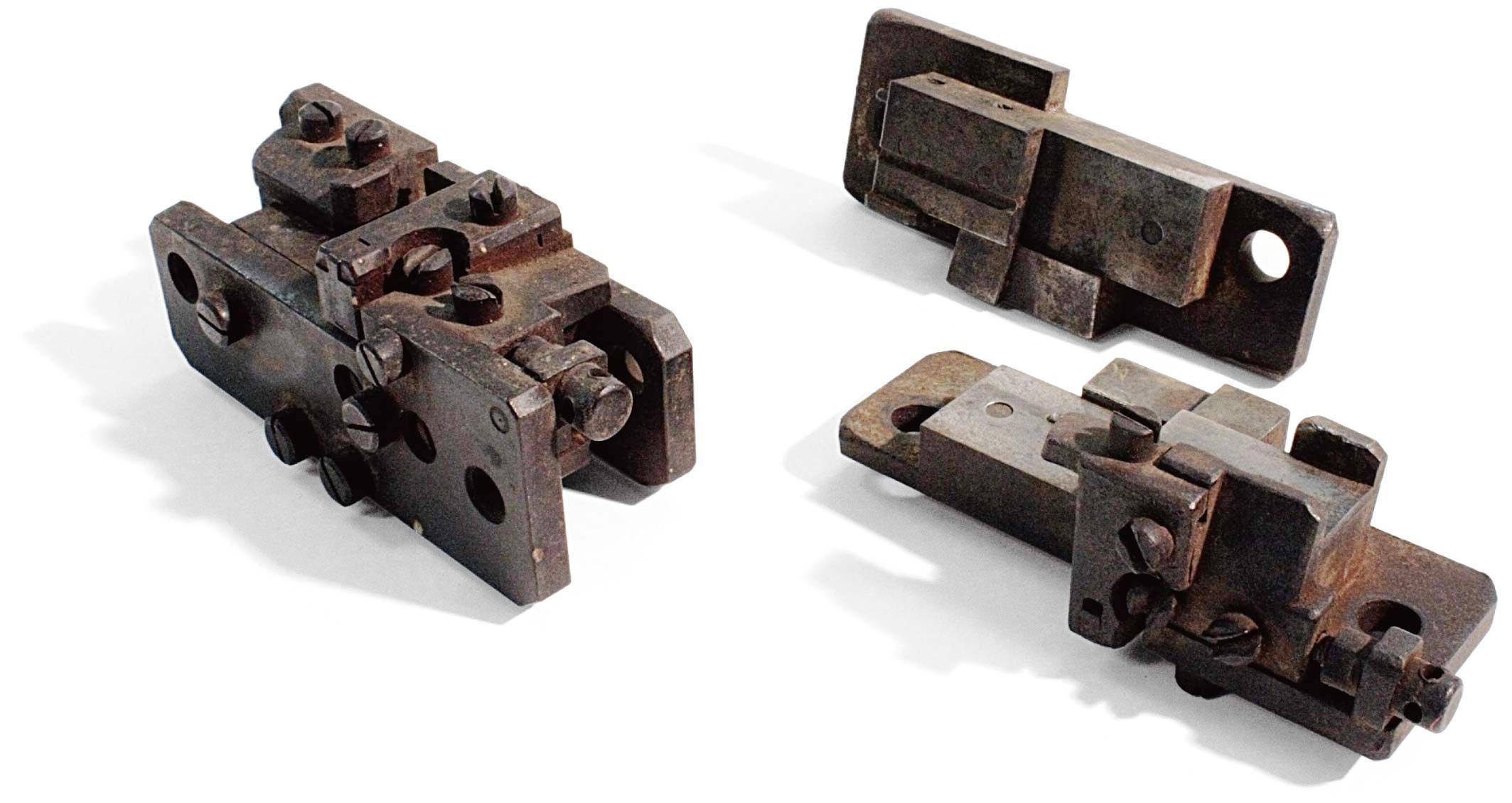 ブルース活字鋳造機の心臓部 鋳型