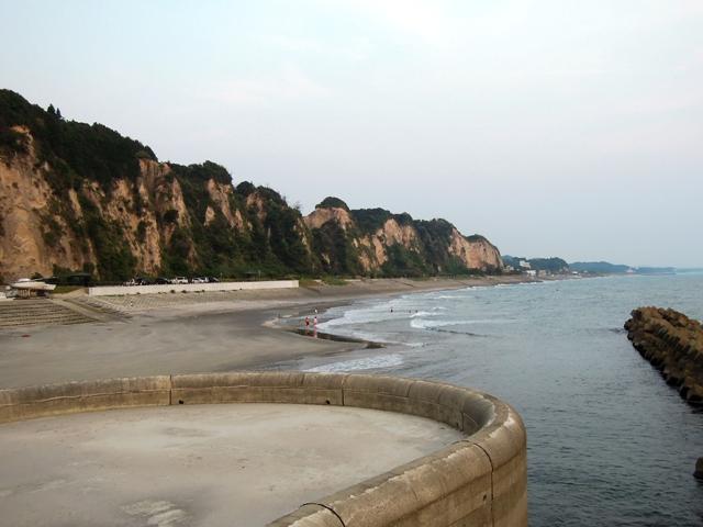 シラス台地の海岸線