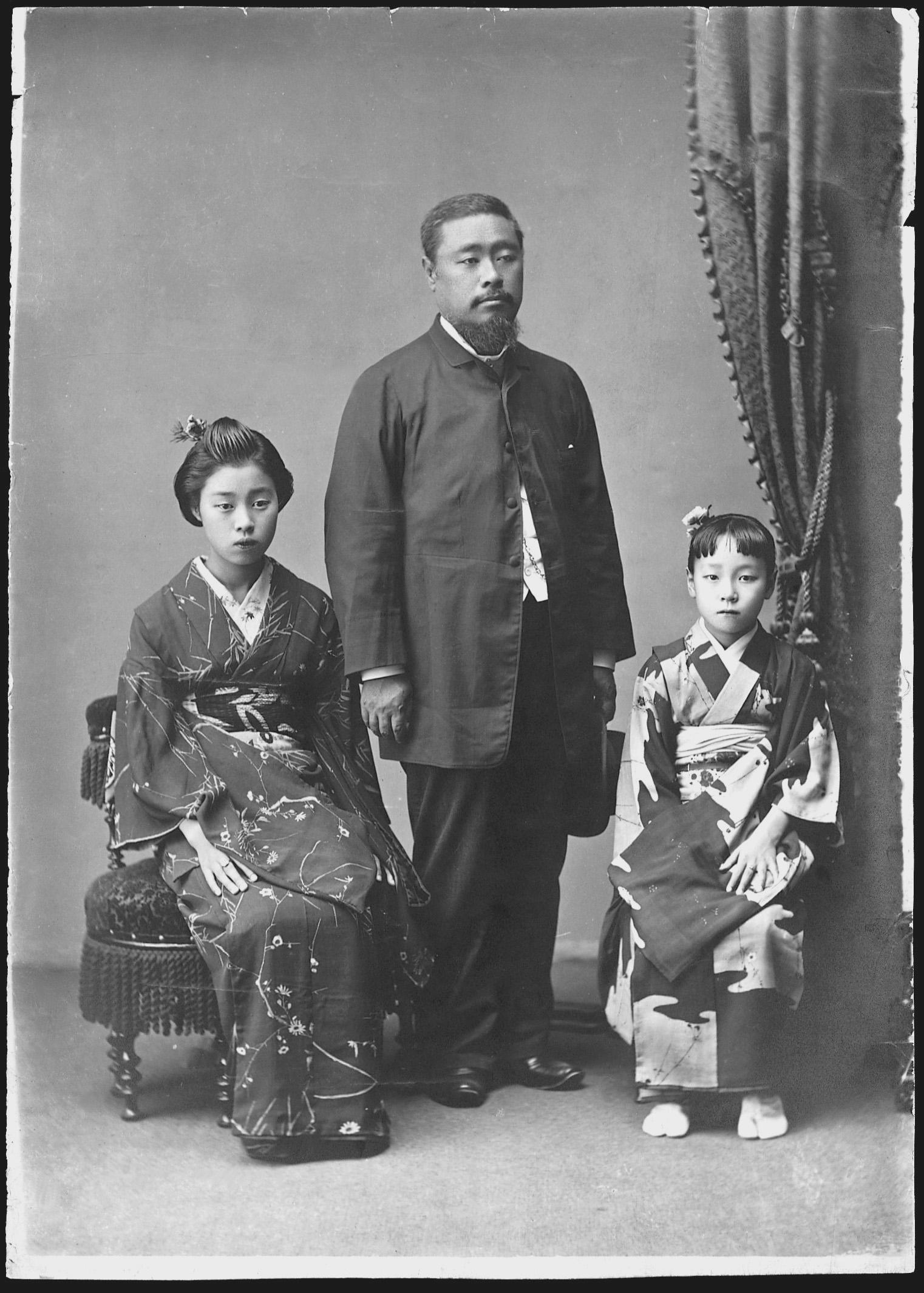 平野富二と娘たち