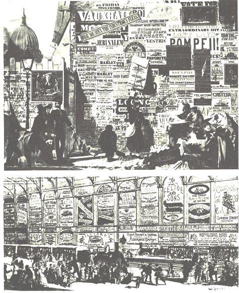19世紀世紀末英国街頭風景
