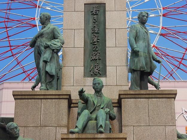 鹿児島中央駅前五代友厚座像