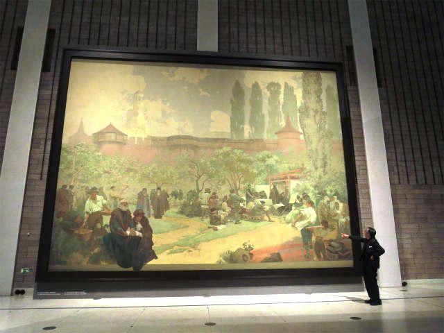 スラヴ叙事詩『イヴァンチッツェのモラヴィア兄弟団学校―クラリッツェ聖書の発祥地―』