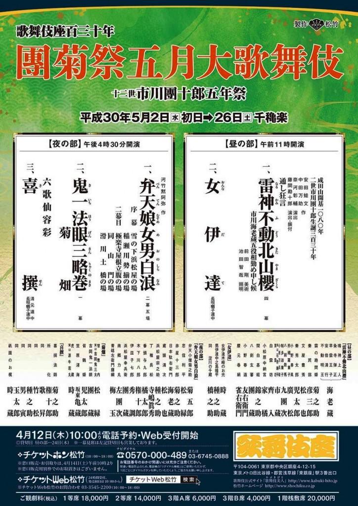 歌舞伎座五月公演