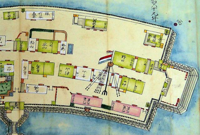 長崎諸役所絵図 出島拡大右側