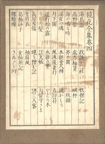 春陽堂版『鏡花全集』函表04巻[1]