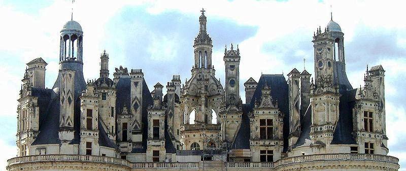 シャンボール城の装飾屋根