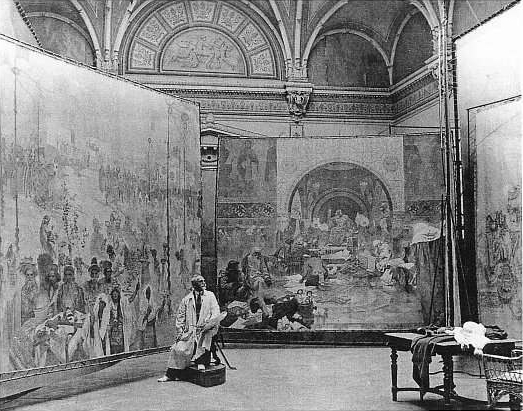 Alfons_Mucha_at_work_on_Slav_Epic[1]