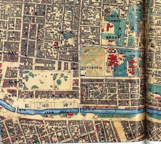 明治10年頃の和泉町周辺図