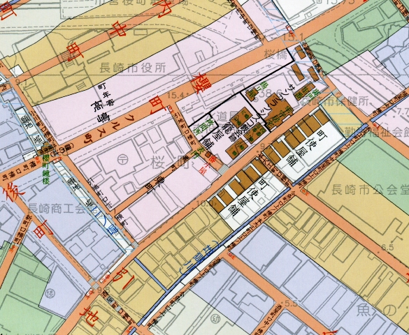 新旧長崎地図