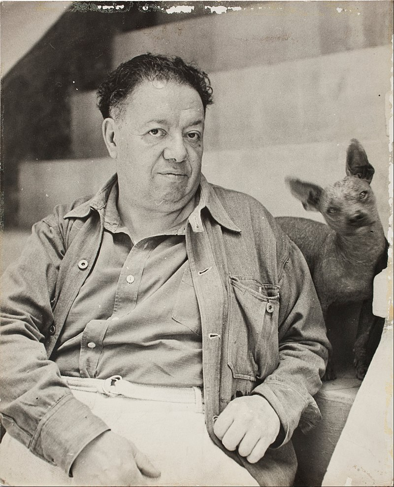 800px-Diego_Rivera_with_a_xoloitzcuintle_dog_in_the_Blue_House,_Coyoacan_-_Google_Art_Project