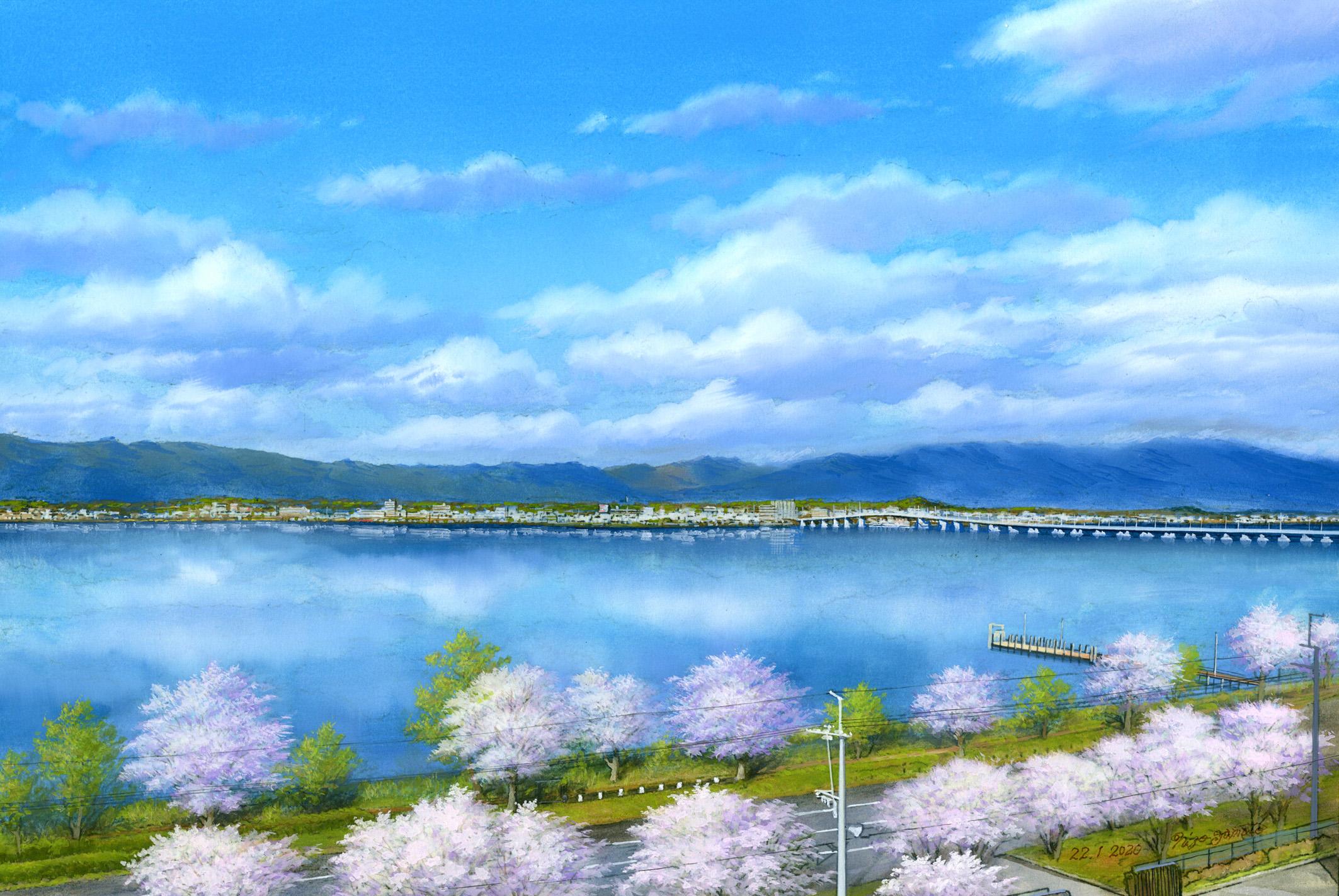 06.《卯月の琵琶湖》 2020年 (C)山本二三